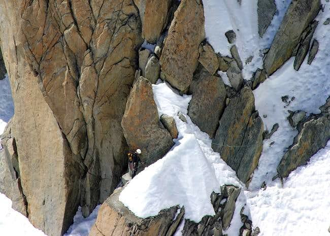 Climbing the Arête des Cosmiques