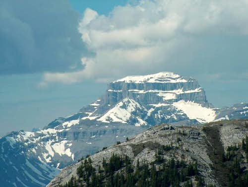 "The ""massive"", Mt. Bourgeau..."