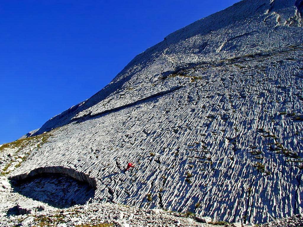 Southern wall of Seekofel,...