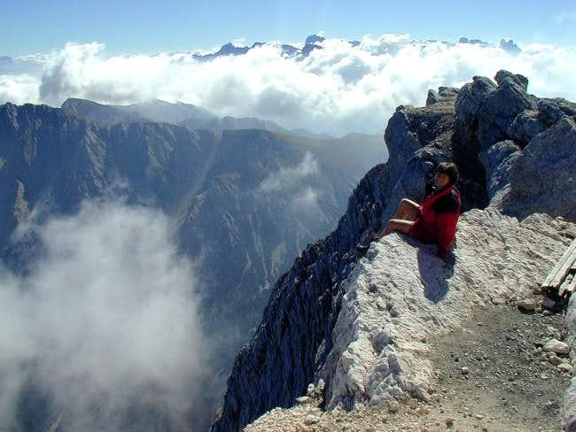 On the edge - the summit of...