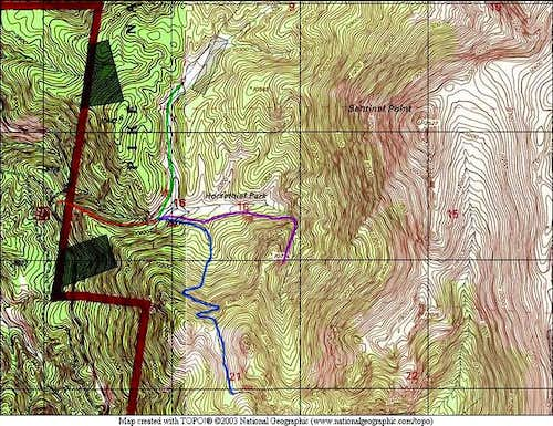 A TOPO Map of the Horsethief...