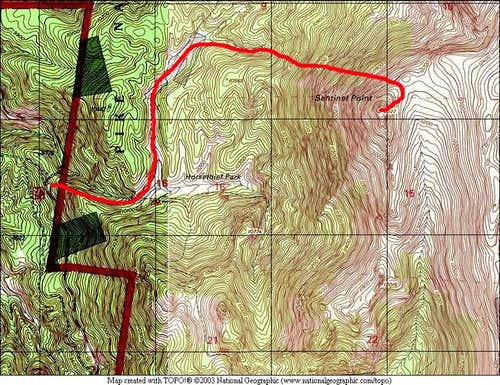 A Route TOPO for Sentinel...
