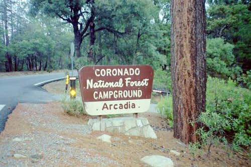 The Arcadia Campground.