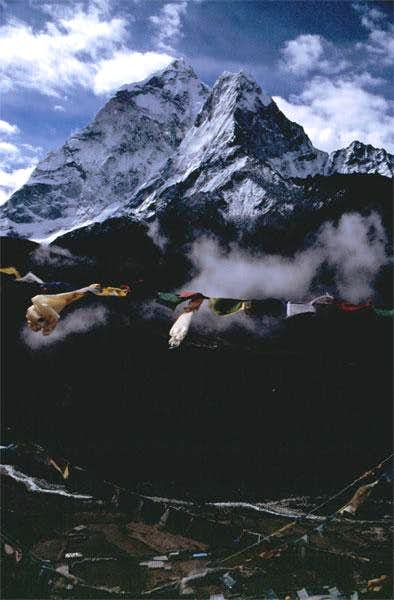Ama Dablam with Dingboche...