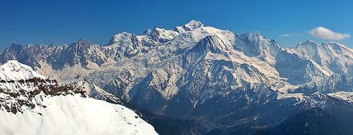 Massive Mont Blanc seen from...