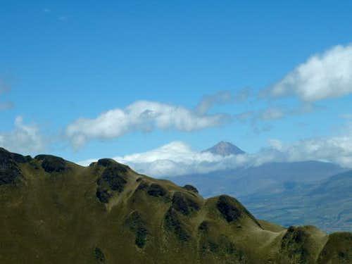 View of Illiniza norte as...