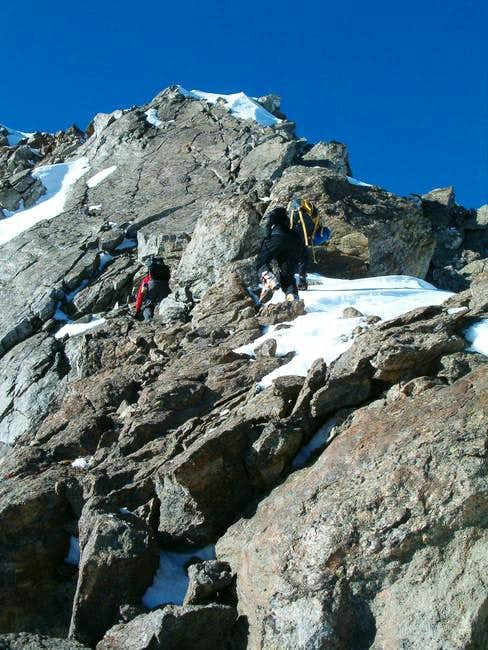The east ridge of point...