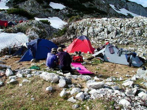 Camp in Lokvice valley where...