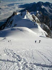 Climbers on the last slope...