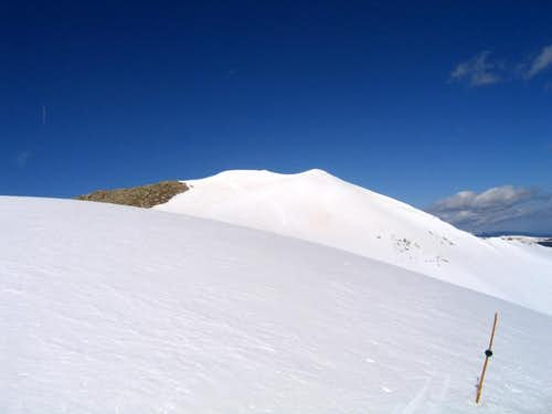 The summit of Peak 9 from its...