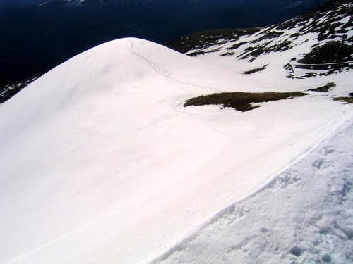 A photo of the lower summit...