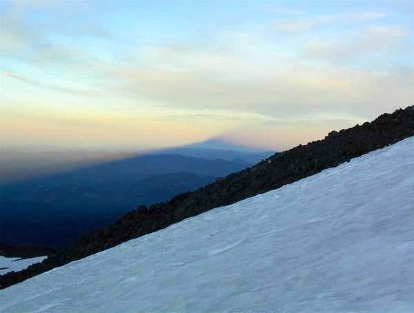 Mt Adams casts its morning...