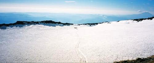 Crater on summit of Mt....