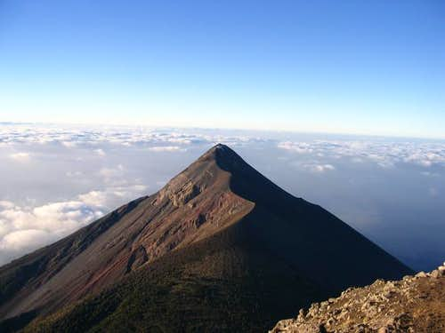 The view of Volcan Fuego in...