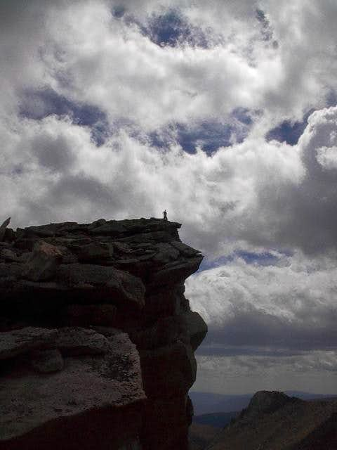 Photo of me atop the cliff...