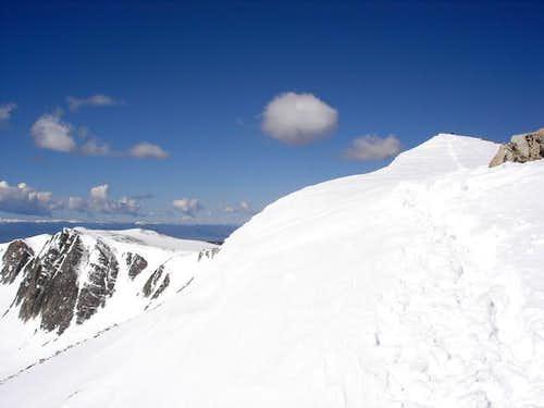 Medicine Bow Peak's summit to...