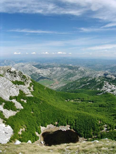 View from Jezerski vrh-summit