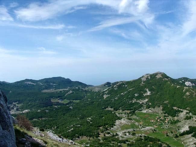 View from Jezerski vrh in SW...