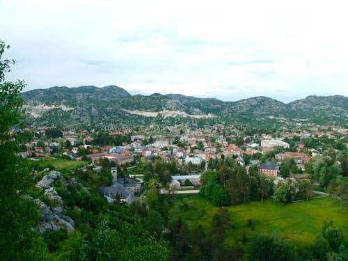 The town of Cetinje from...