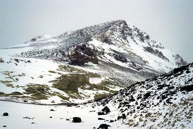 The summit pyramid on Bonete...