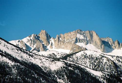 Sawtooth Ridge and the peak...