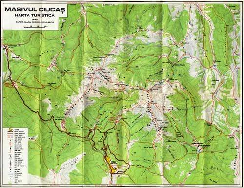 A map of Ciucas area.