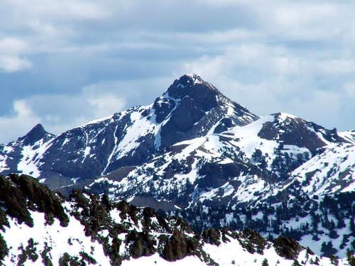 Mystery Peak's east face as...