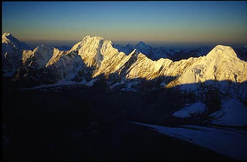 Jugal Himal at dawn from the...