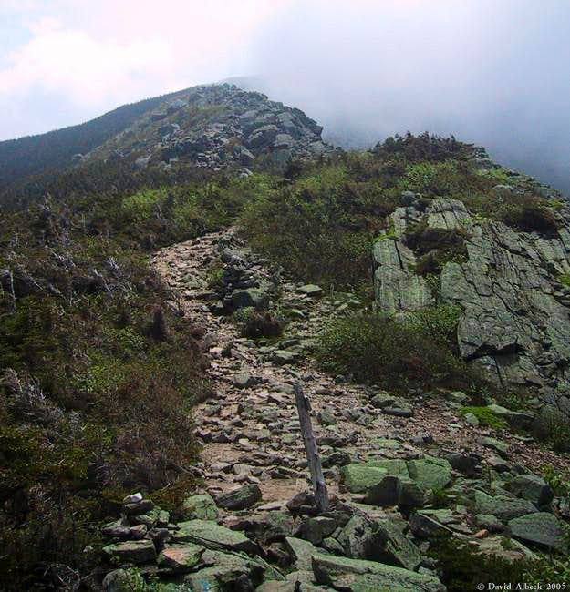 The above-treeline section of...