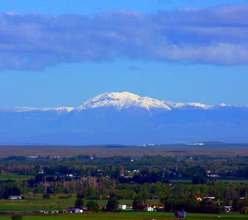 Snow capped Scott Peak in the...