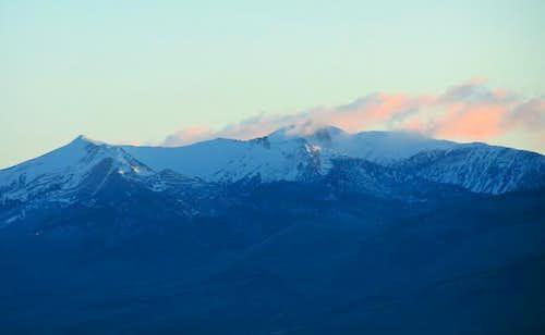 Eighteenmile Peak, one of the...