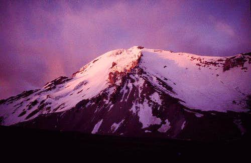 Pomerape south face at sunset...