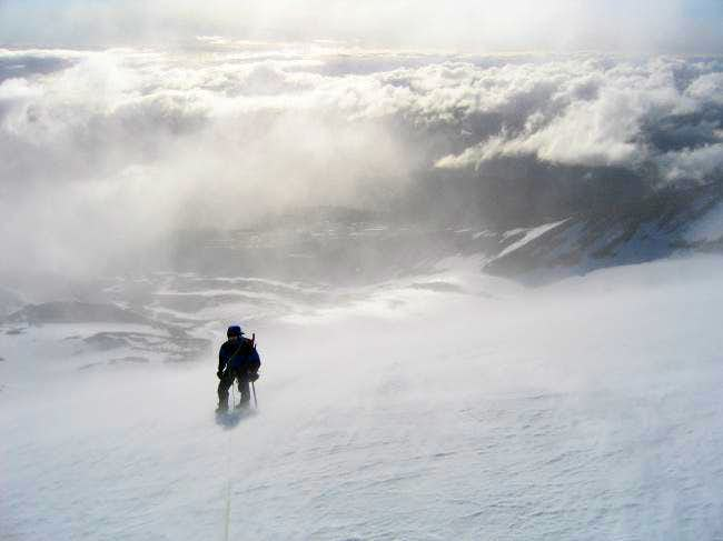 Brian ascending the Snow...