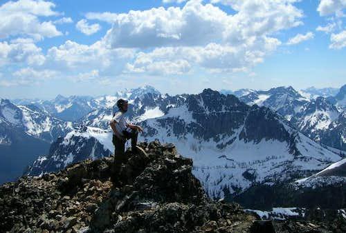 Paul Klenke atop Tupshin Peak...