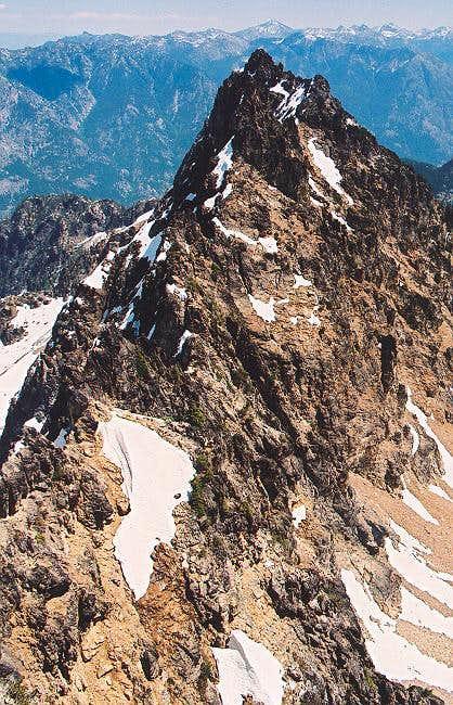 The long, craggy East Ridge...