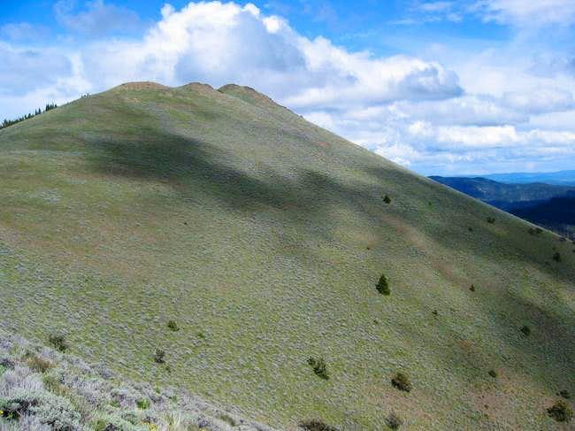 Sage brush covered SW slope...