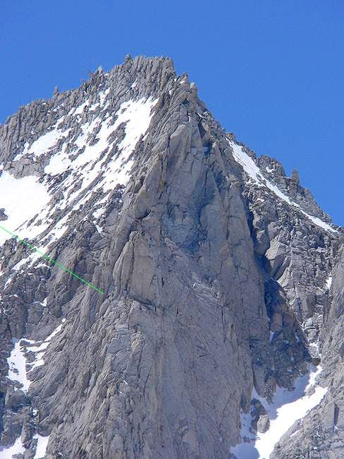 The proud North Arete of Bear...
