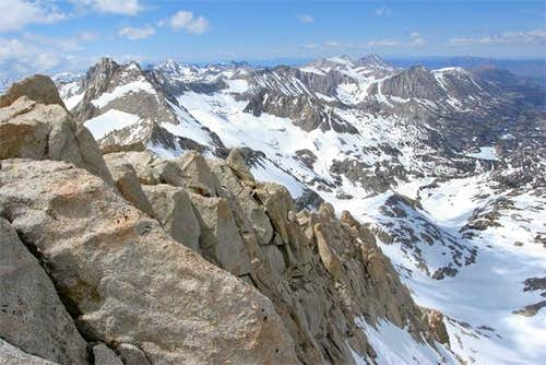 The top of the North Arete...