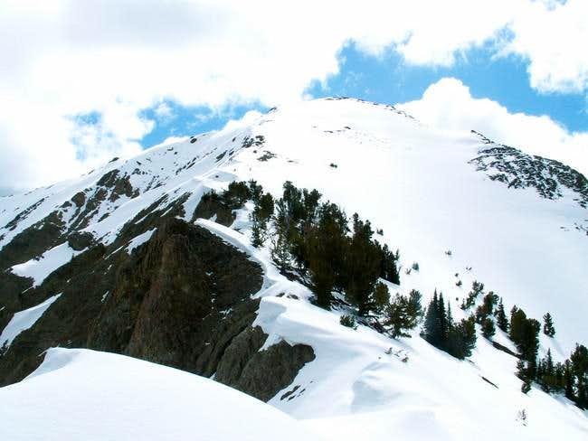 Murdock Peak's summit block...