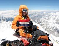 Harry Kikstra on the summit...