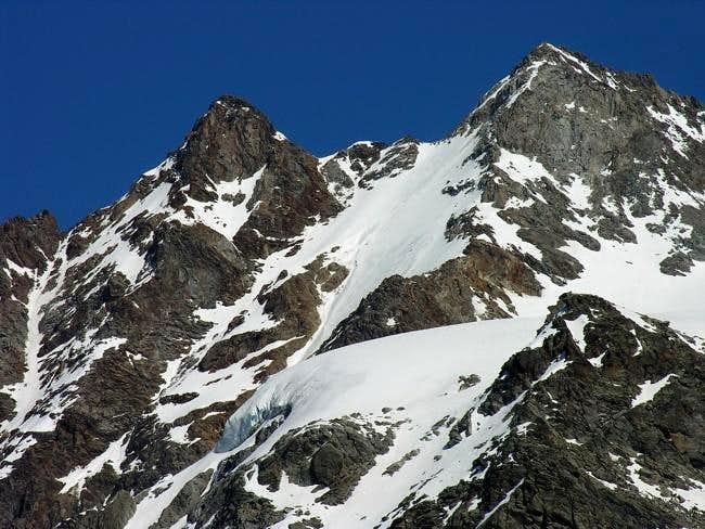 Le punte Patrì nord (3561 m)...