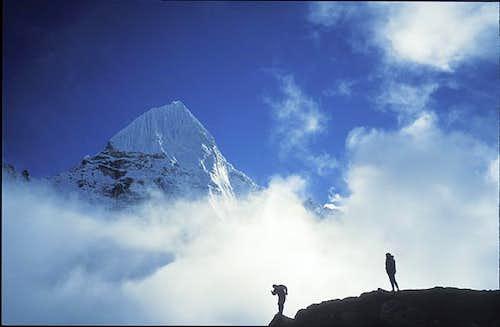 Wedge Peak from Pangpengma,...