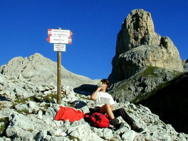 On the Passo Scalette.