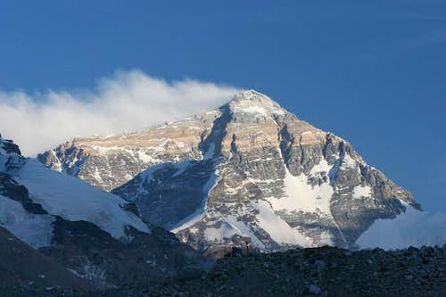 Everest just before sunset as...