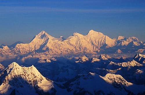 From 7000m on Kangchenjunga...