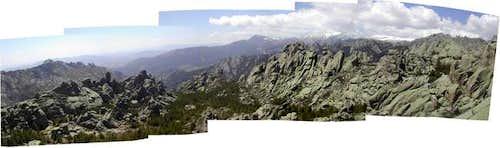 panoramic view of the pedriza...