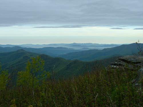 The valley below Sam Knob.