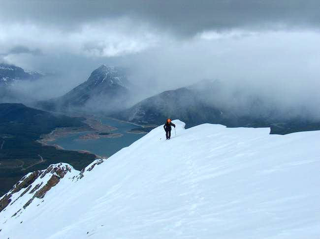 The north cornice on the...