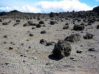 The lunar-esque landscape...