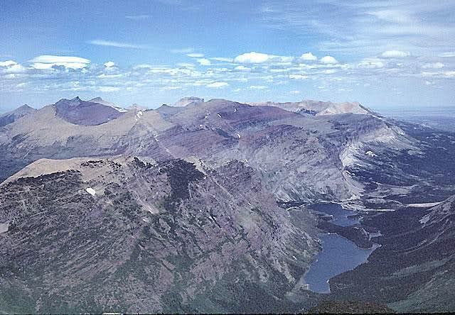 View NE from the summit of Mount Gould